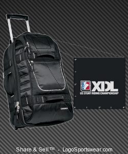 XDL Embroidered OGIO Pull Through Rolling Suitcase Design Zoom