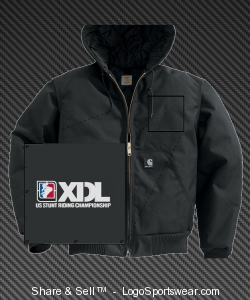 XDL Embroidered Custom Extremes® Active Jacket / Arctic Quilt Lined Design Zoom